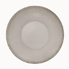 Bauscher Modern Rustic Deep Coupe Plate in Natural Grey